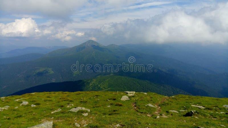 Carpathian Chornohora royaltyfri fotografi