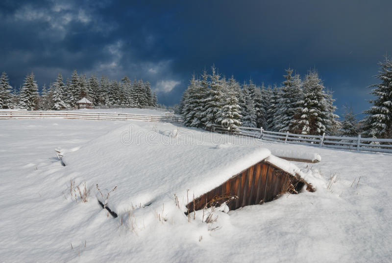 Carpathian frostig dal royaltyfria bilder