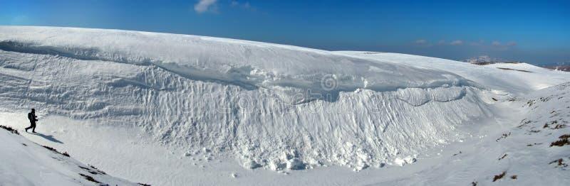 carpathian góry śnieżne stopu obrazy stock