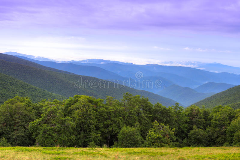 Carpathian kanter arkivfoton