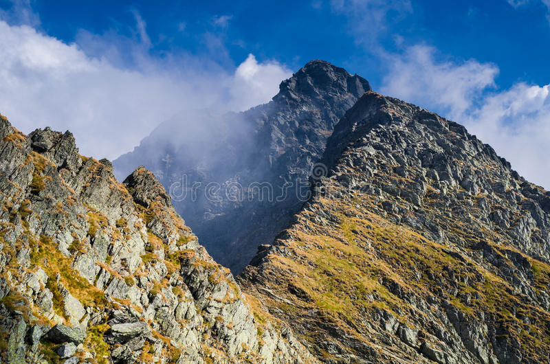 Carpathian landscape, Fagaras mountains. Carpathian landscape. Fagaras mountains are the highest of Romania, and is the most popular destination for hikers royalty free stock photography