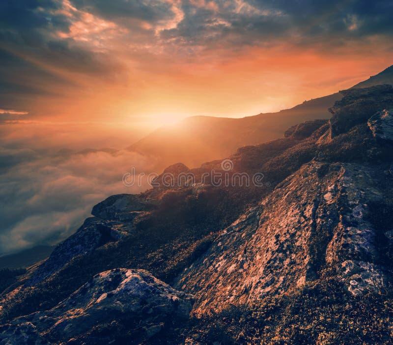 Carpathian landskap för sommar arkivbilder