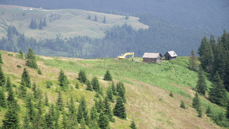 The Carpathian mountains stock images