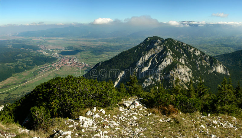 Carpathian mountains in Romania royalty free stock images
