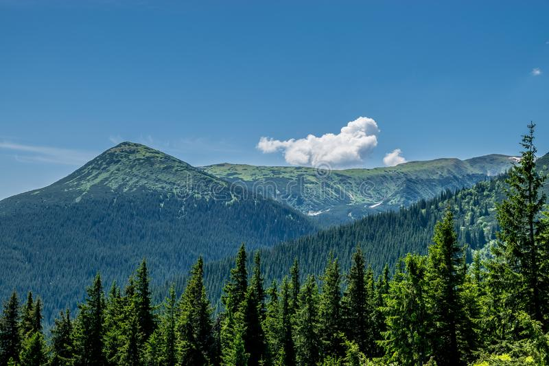 Carpathian Mountains in Ukraine stock photos
