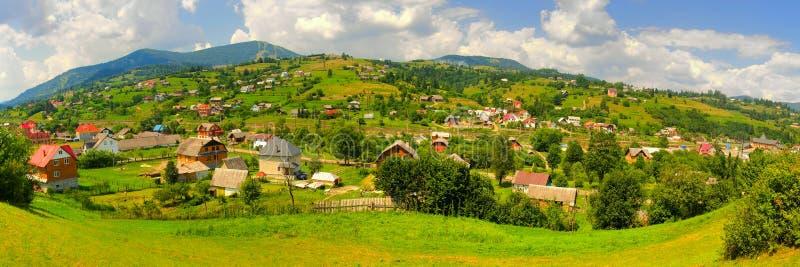 carpathians全景 免版税库存图片