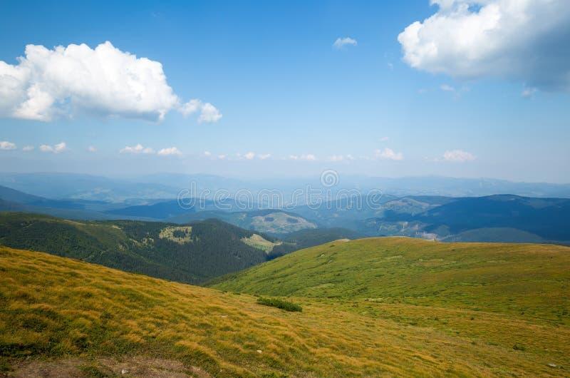 carpathians ηλιόλουστος καιρός Τα βουνά Juicy φύση στοκ φωτογραφίες με δικαίωμα ελεύθερης χρήσης