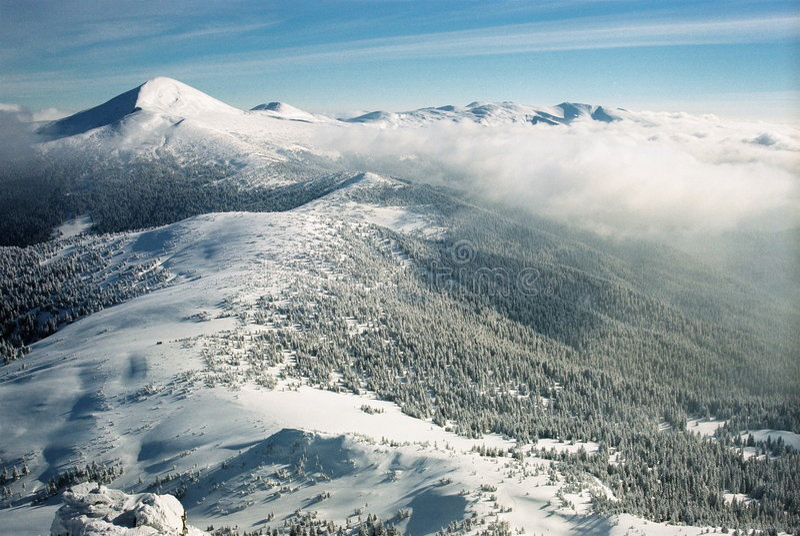 carpathians χειμώνας στοκ εικόνες