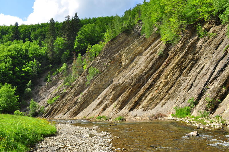 The Carpathians. Graphite deposits in the Carpathian Mountains royalty free stock photo