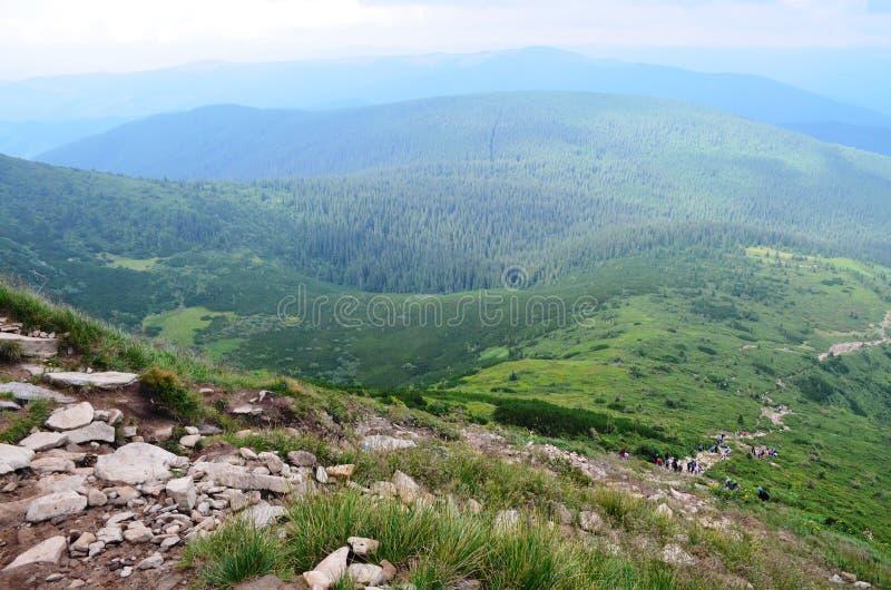 Carpathians góry zdjęcia royalty free