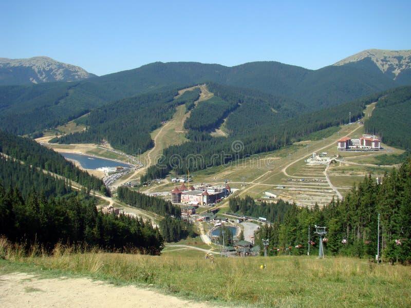 carpathians Montanha Lake Bukovel foto de stock royalty free