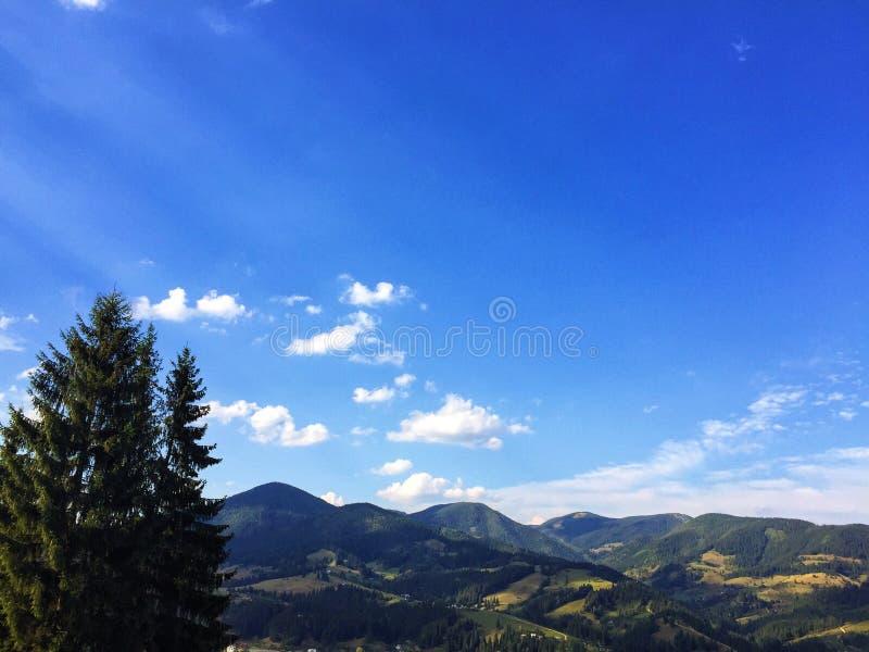 Carpathians mountains in Ukraine stock images
