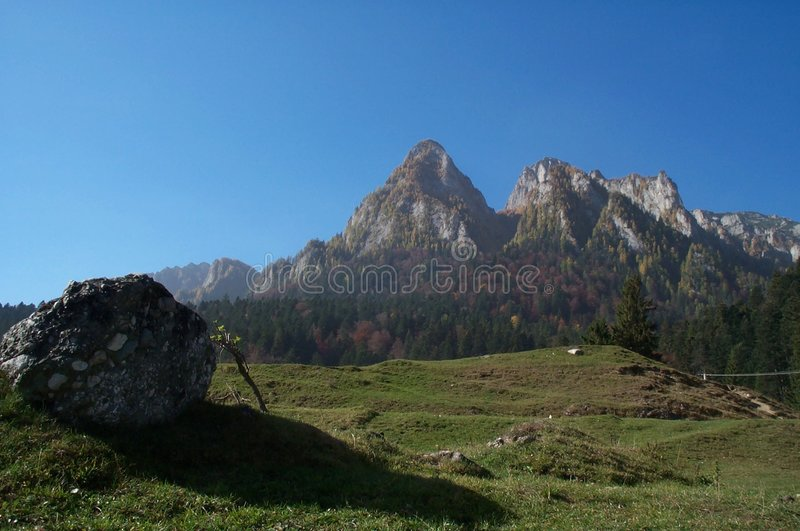 Carpathians skyline stock photo