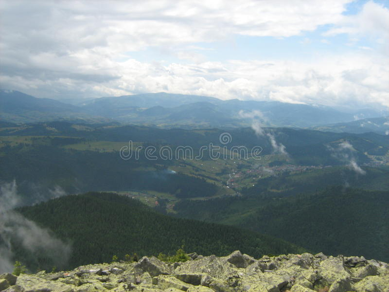 Carpathians, Ukraina obraz royalty free