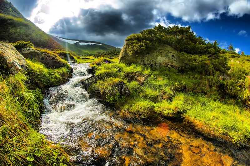 Carpatians mountain stock photo