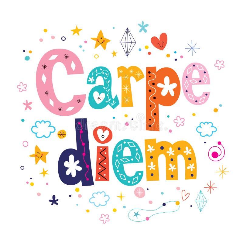Carpe diem词组诱导行情 向量例证