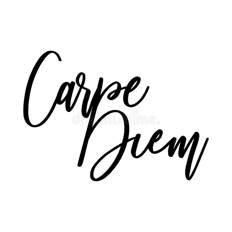 Carpe Diem Όμορφο μήνυμα διανυσματική απεικόνιση