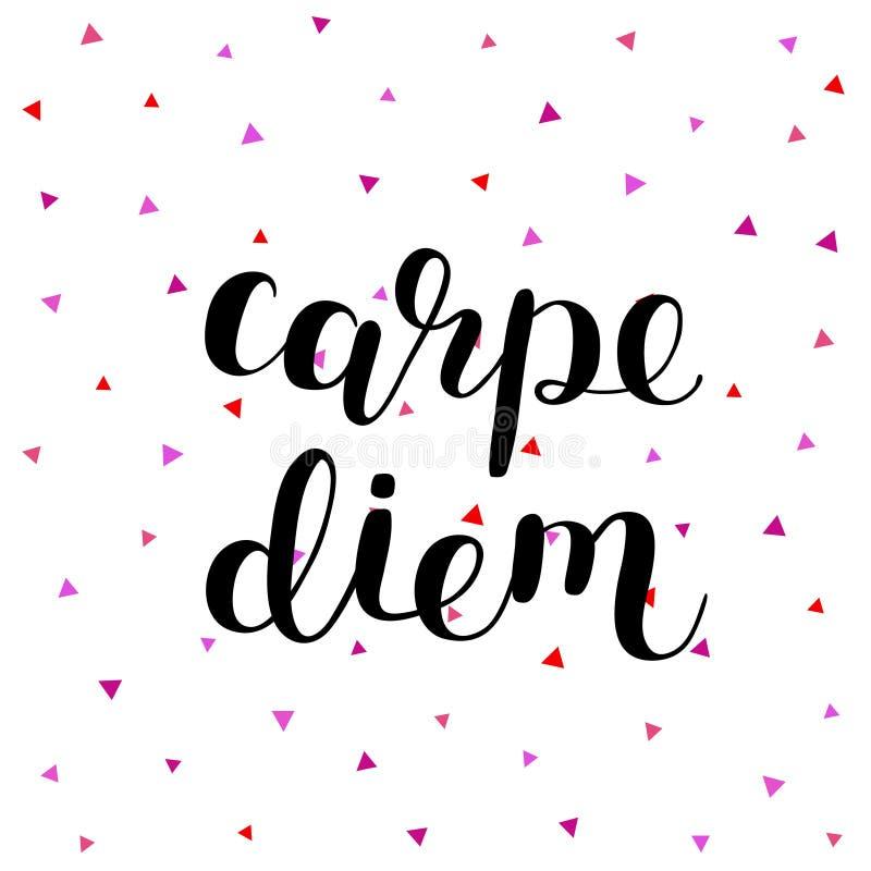 Carpe Diem 日抓住 库存例证