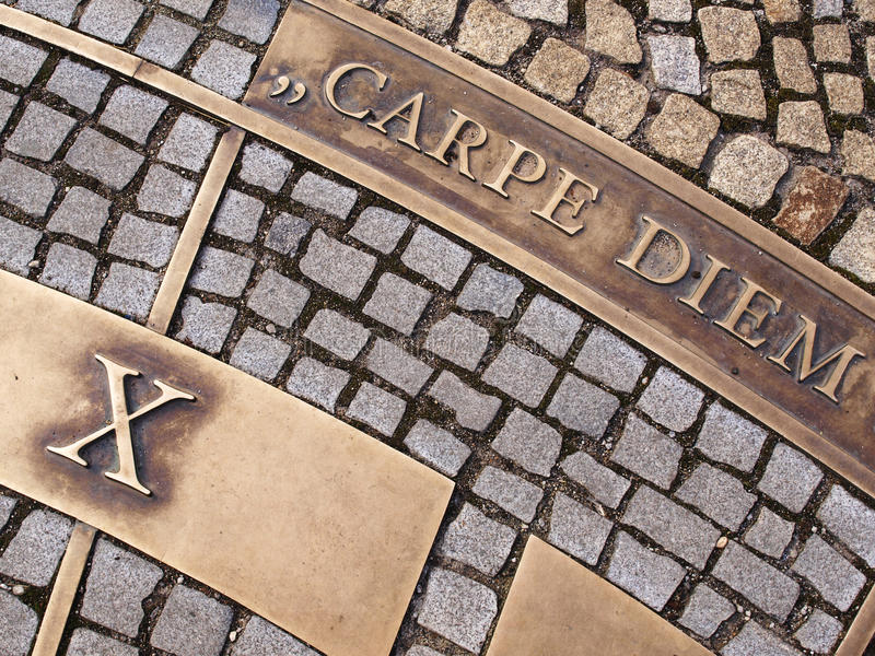 carpe diem obraz royalty free