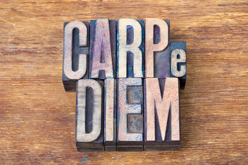 Carpe diem bois images stock