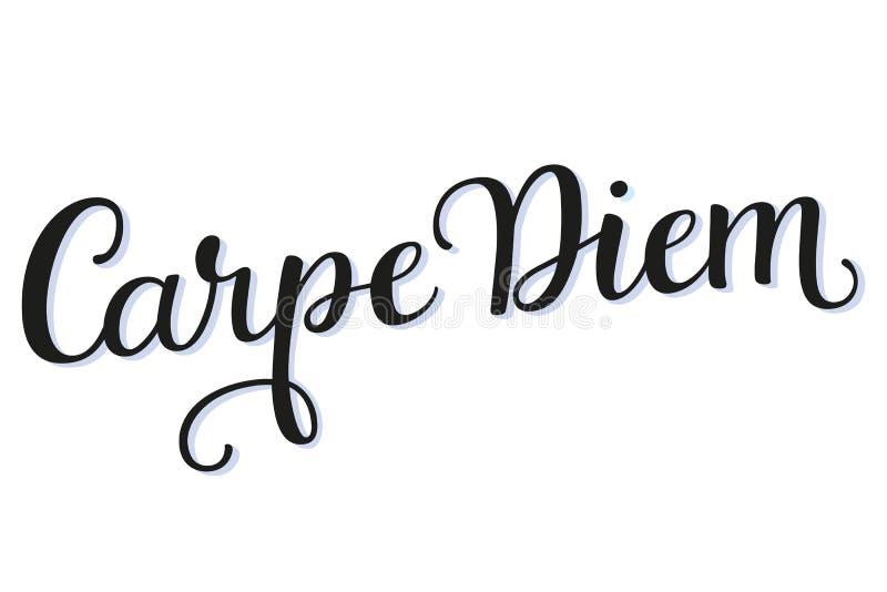 Carpe Diem kaligrafii pismo zdjęcia stock