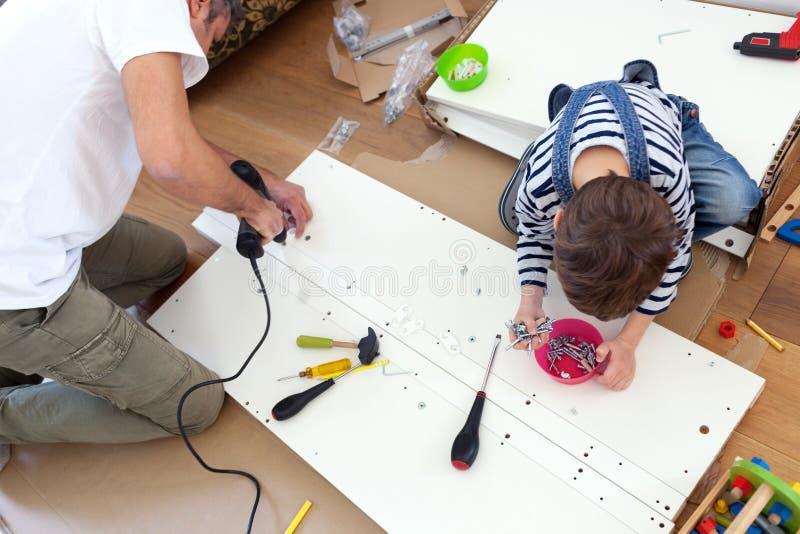Carpenter's λίγος αρωγός στοκ εικόνες με δικαίωμα ελεύθερης χρήσης