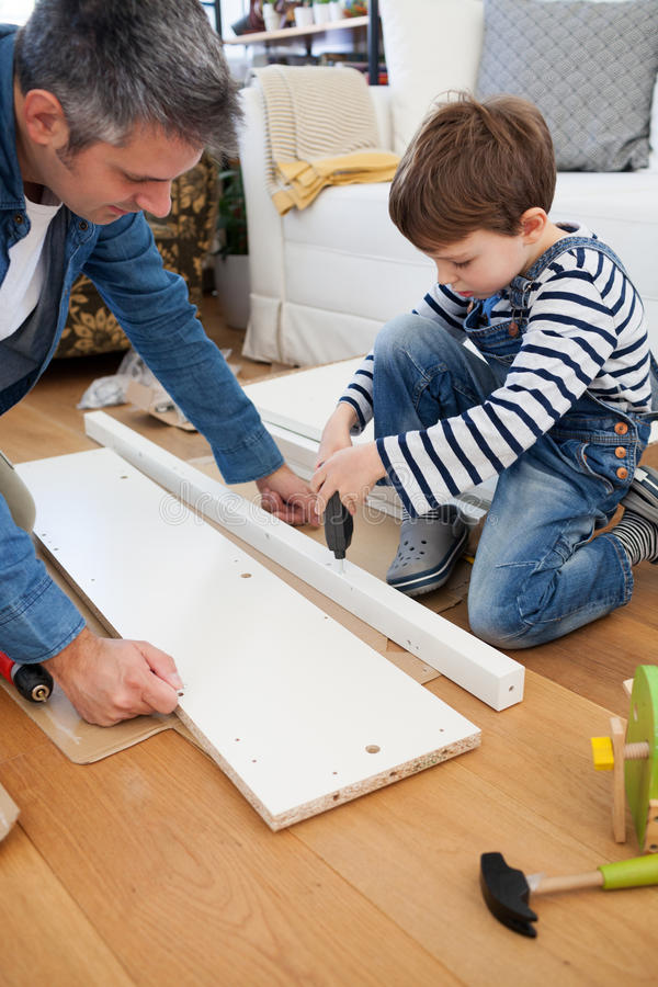 Carpenter's little helper royalty free stock photo