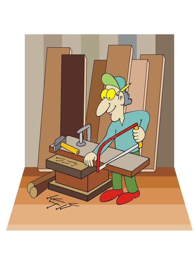 Download Carpenter stock vector. Image of working, nail, workshop - 13448192