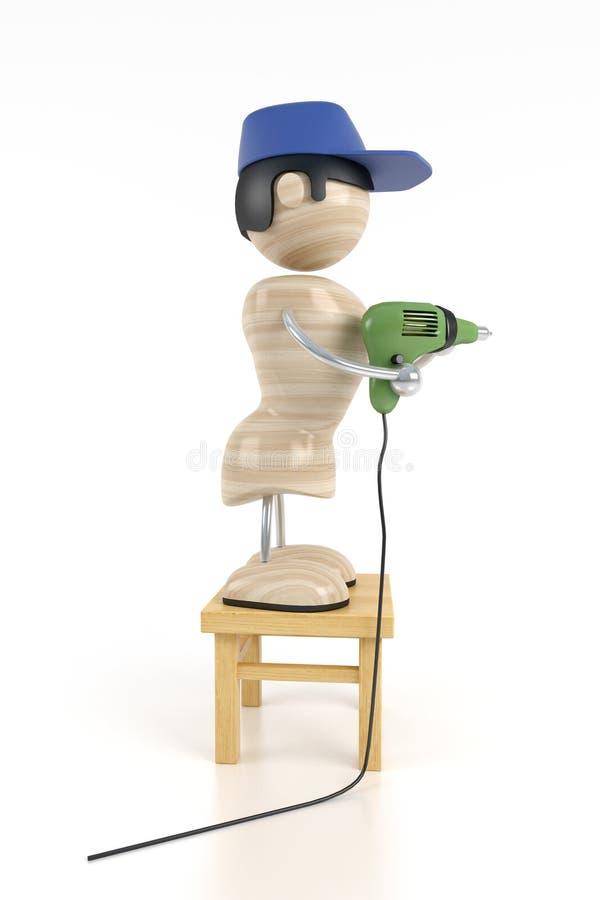 Download Carpenter stock illustration. Image of home, jobbing, improvement - 3147433