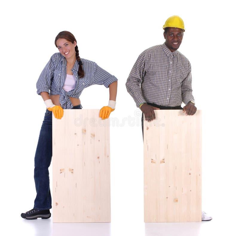 Free Carpenter And Woman Carpenter Stock Photo - 7614010