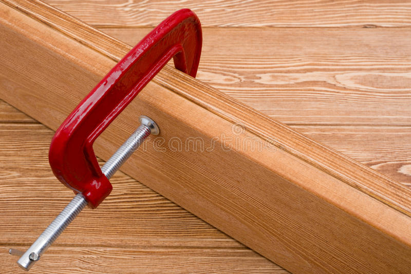 Carpenter clamp stock image