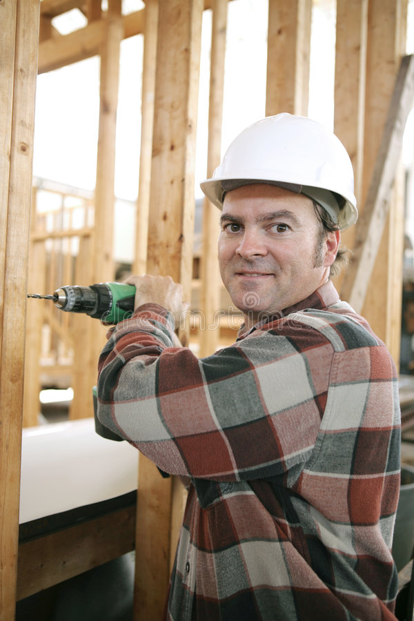 Carpenter on Construction Site stock photos