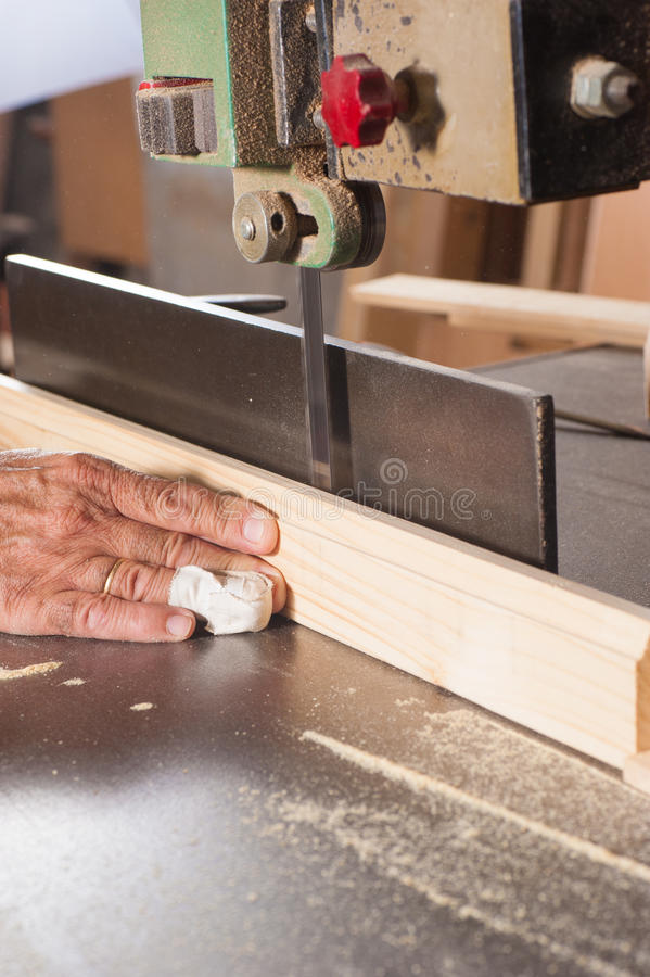 Carpenter Fingers Royalty Free Stock Photography