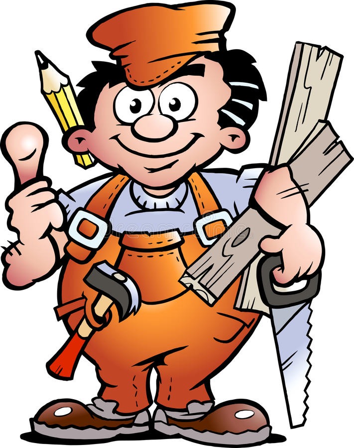 Carpenter Handyman stock illustration