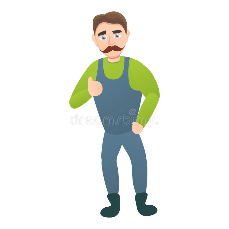 Carpenter icon, cartoon style vector illustration