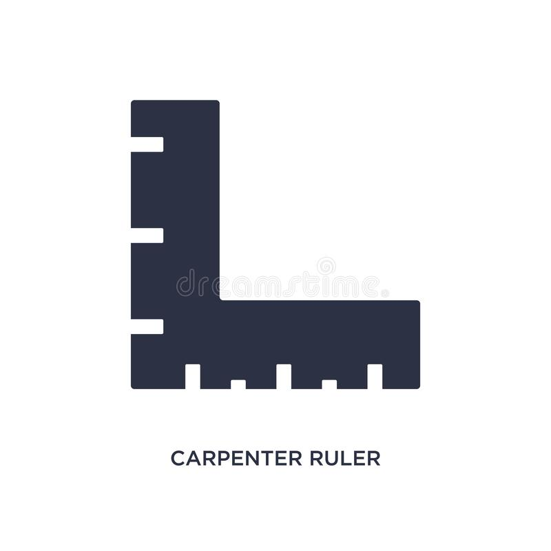 Carpenter ruler icon on white background. Simple element illustration from measurement concept. Carpenter ruler icon. Simple element illustration from stock illustration