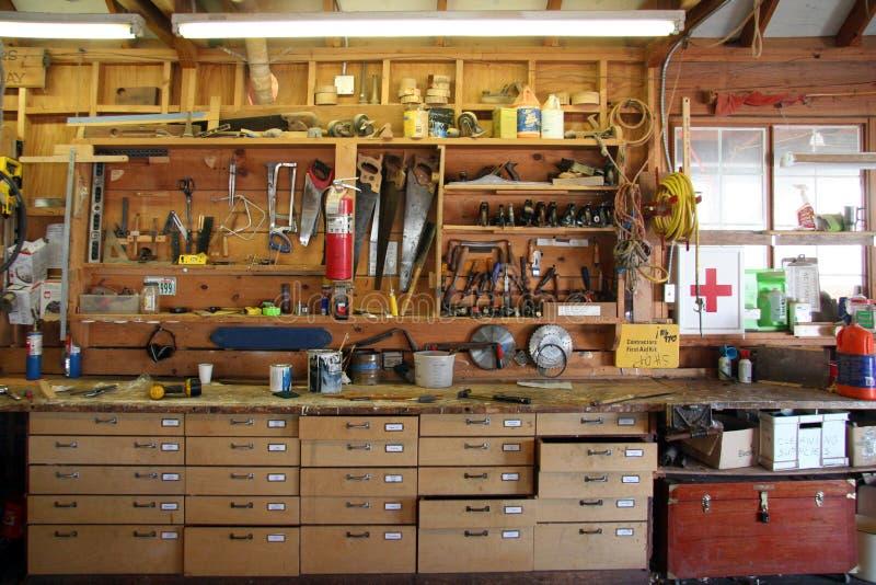 Carpenter S Bench Stock Image Image Of Nail Drills