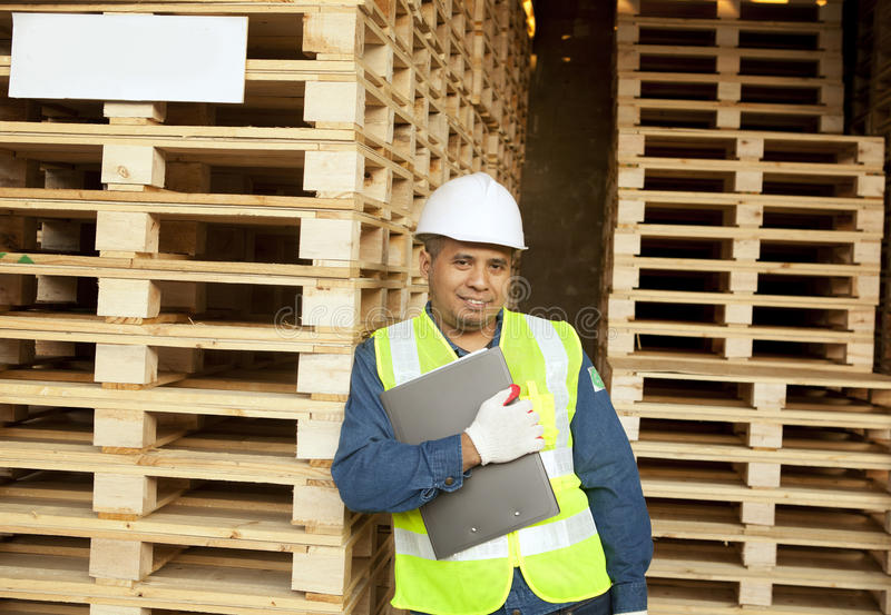 Carpenter standing stock images