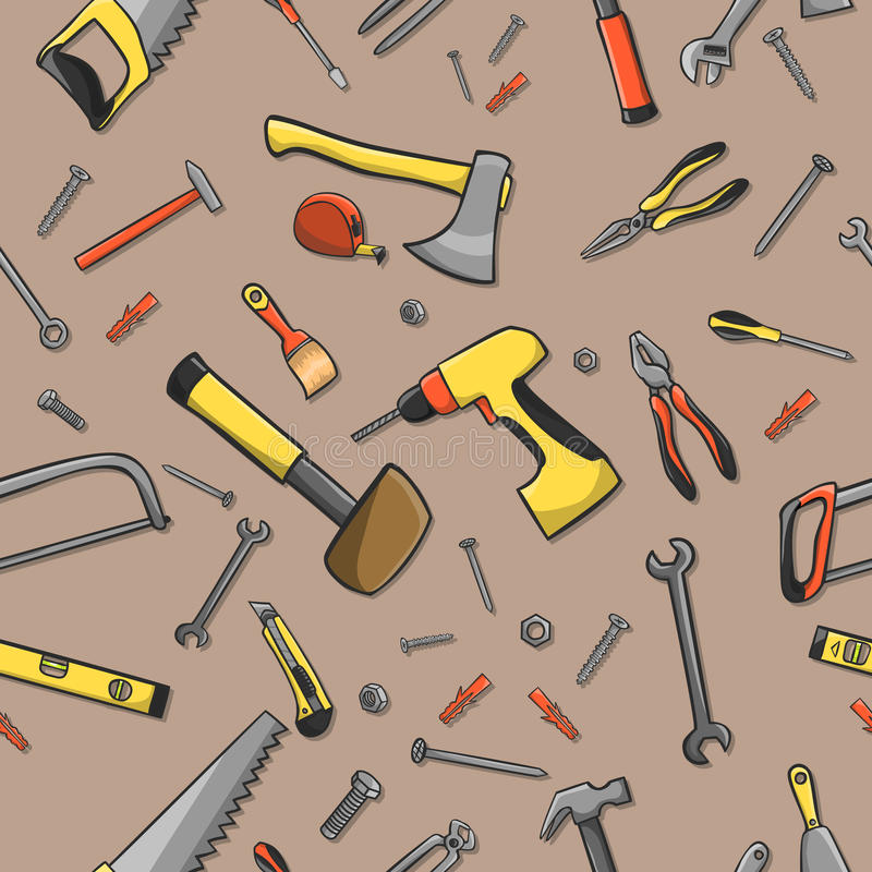Download Carpenter Tools Seamless Pattern Stock Vector - Illustration of pattern, instruments: 39503218