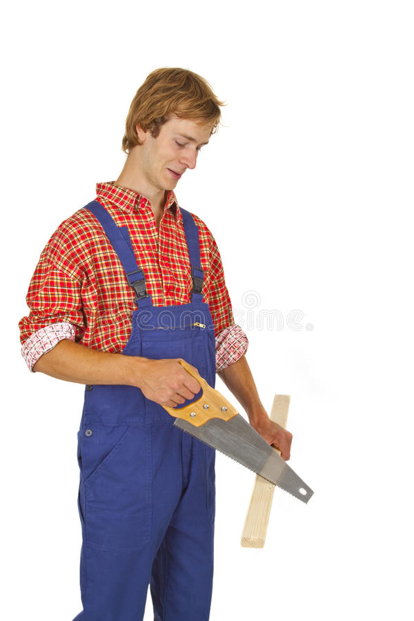 Free Carpenter With Handsaw Royalty Free Stock Photos - 16298738