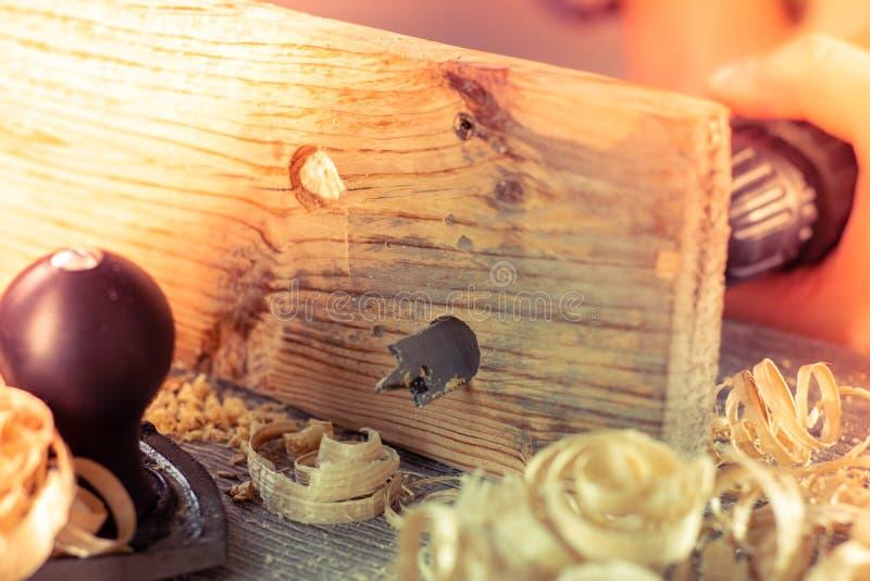 Carpenter wood tool wooden work,  industry. Carpenter wood tool wooden work carpentry equipment,  industry stock photo