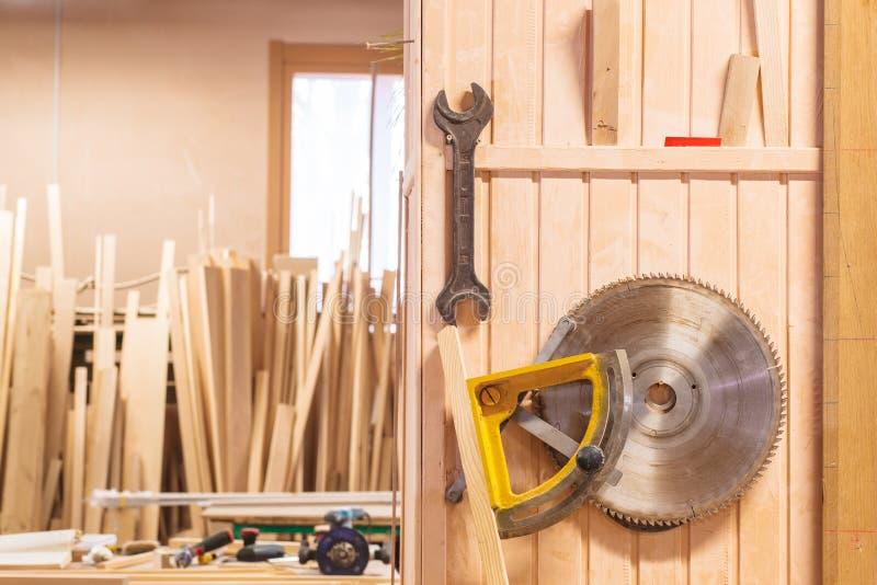 Carpenter wood workroom stock photography