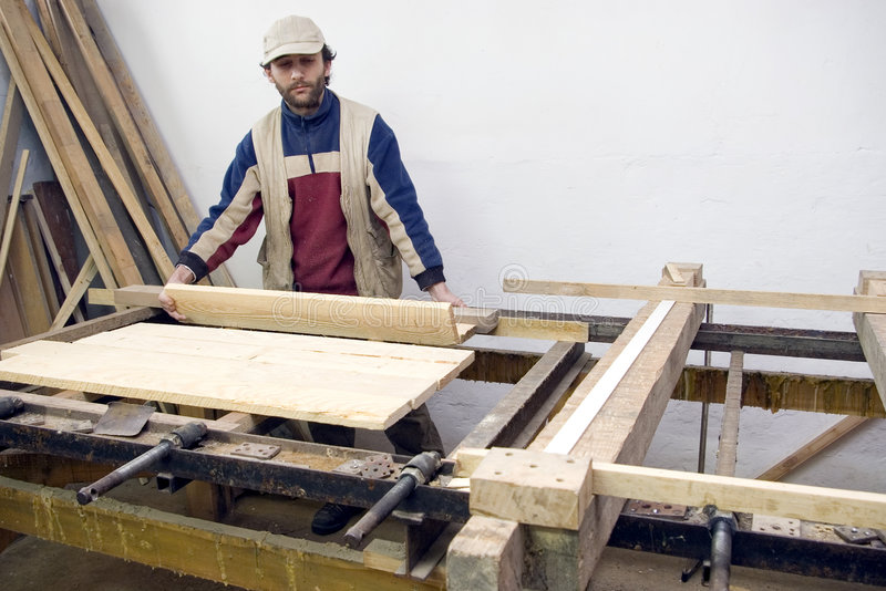 Download Carpenter at work. stock image. Image of lumber, dangers - 2279265