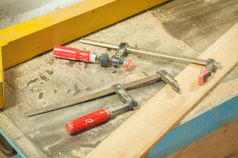 Carpenter workshop wood stock photos