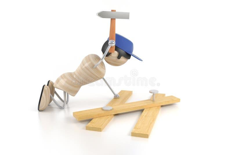 Download Carpentiere illustrazione di stock. Illustrazione di installi - 3147454