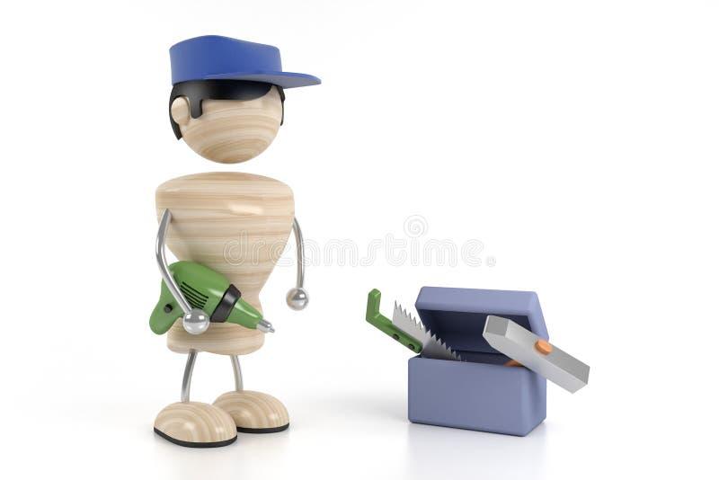 Download Carpentiere illustrazione di stock. Illustrazione di martello - 3147461