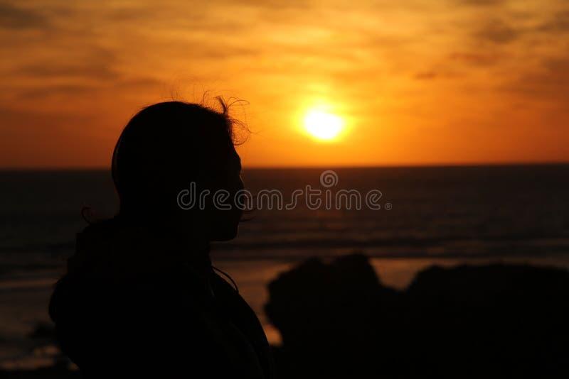 Carpentiere Rocks di tramonto fotografia stock libera da diritti