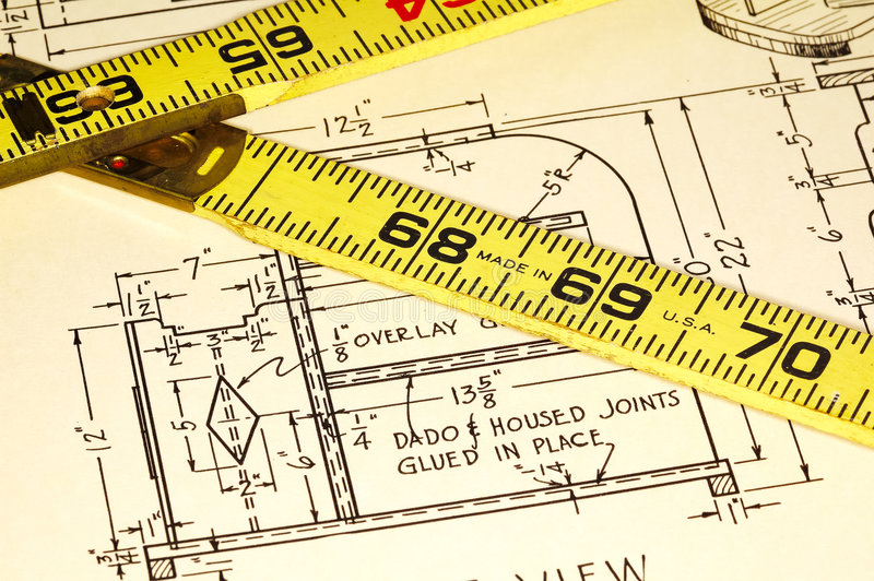 Download Carpentry Plans stock image. Image of sketch, ruler, construction - 256707