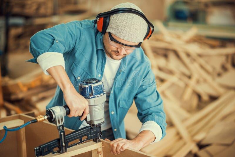 Carpentry workshop stock photo