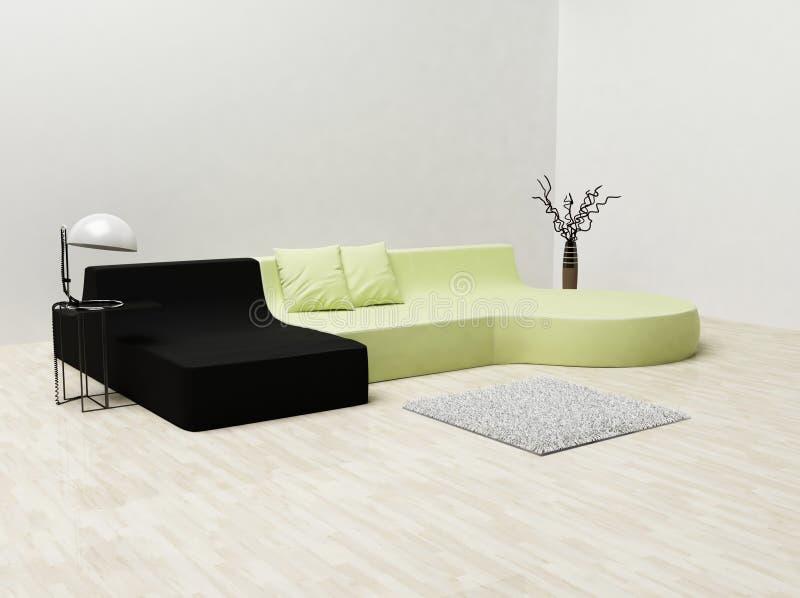 carpet нутряное самомоднейшее острословие софы иллюстрация штока